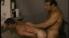 Obedient guy gets his hairy ass ploughed by big-sized member